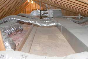 uninsulated ductwork in attic
